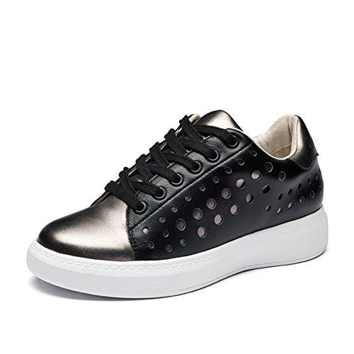 Basket mode chaussure femme chaussure bateau sneakers haut Noir