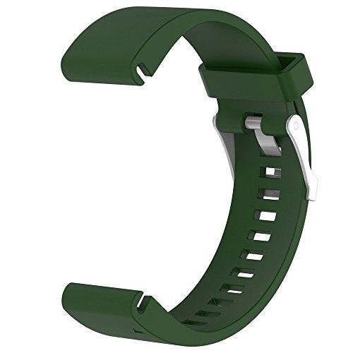 Yallylunn Replacement Silicagel Quick Install Band Strap Fitness Wasserdicht Fitness WiderstandsfäHigkeit Klassik Im Freien for Garmin Fenix 5S Watch