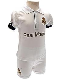 Juego de camiseta y pantalón corto del Real Madrid para bebés, 2 piezas, temporada 2016/17