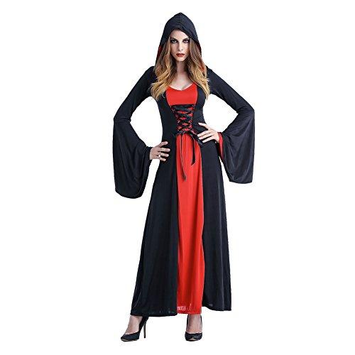 Damen Mittelalterliche Königin Deluxe Kostüm (Erwachsene Königin Kostüme Deluxe Rote)