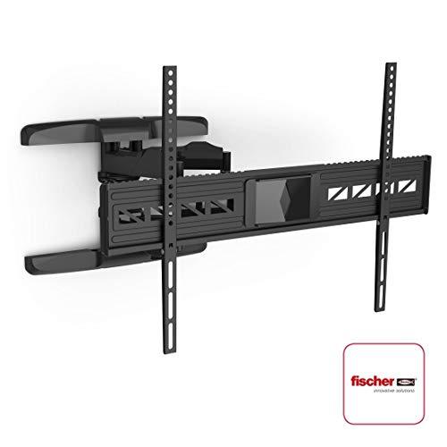 Hama TV Wandhalterung für große Fernseher 47-90 Zoll (119 - 229 cm, VESA bis 800 x 600, vollbeweglich, neigbar, schwenkbar, extrem belastbar, Schwingungsdämpfer für klaren Sound) schwarz
