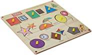 Zitto Premium Wooden Shapes with Object Match Educational Puzzle Toy