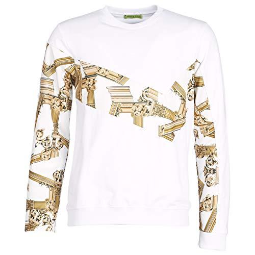 Versace Jeans Couture Man Light, Sweat-Shirt À Capuche Sport Homme, Blanc (Bianco Ottico 003), Medium