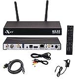 AXAS HIS 4K Combo Sat Receiver 1X DVB-S2 1X DVB-C T2 4K UHD Linux + PremiumX 1,5m HDMI-Kabel mit 24K Vergoldeten Kontakten HighSpeed mit Ethernet