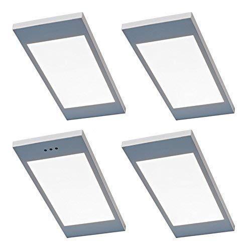 4-er Set LED Küchen Unterbauleuchte SANTO 4 x 3,5 W Warmweiss Dimmer Schalter Konverter dimmbar *567812
