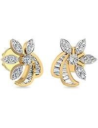 PC Jeweller The Visalah 18KT Yellow Gold & Diamond Earring