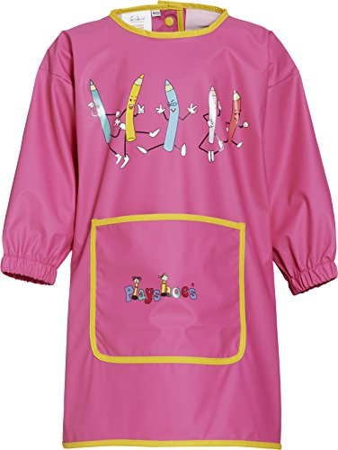 Playshoes Girl's painting apron, long sleeve, pink - Camiseta de manga