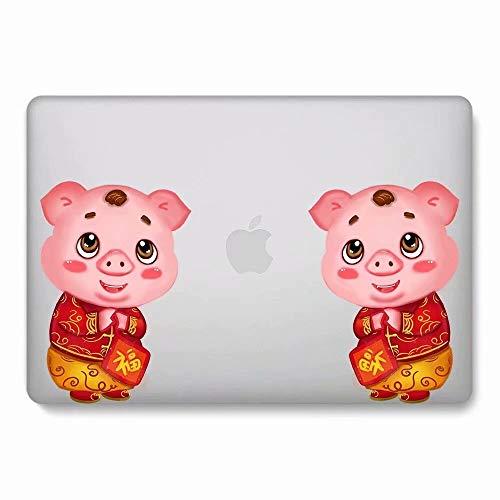 AQYLQ MacBook Schutzhülle/Hard Case Cover Laptop Hülle [Für MacBook Pro 13 Zoll mit Retina Display: A1425/A1502], Matt Plastik Hartschale Tasche Schutzhülle, DH46 schönes Schwein -