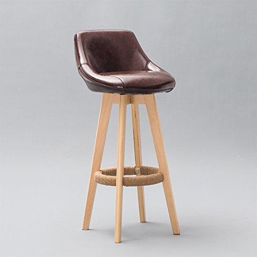 AODISHA Hohe Hocker, Barhocker Cafe Western Restaurant Rezeption Küchenstuhl Massivholz Vintage mit Rückenlehne Stuhl (44 * 44 * 86cm) -Gib Mehr Komfort für Das Leben (Größe : 44*44*86CM)