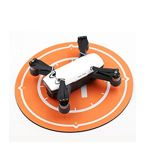 Prevently Landing Pad per Drones, New creative Landing Pad Helipad pieghevole per DJI Spark DJI Mavic Pro drone quadricottero radiocomandato, Orange
