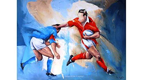 Toile Peinture Rugby Design Essai | Derby de Rugby