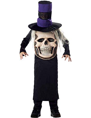 Totenkopf Mad Hatter Halloween Kostüm Karneval Fasching Verkleidung Kinder (Mad Kostüm Hatter Halloween Kinder)