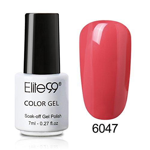 Elite99 Smalto Semipermente 3 in 1 per Unghie in Gel UV LED One Step Smalti per Unghie Soak Off per Manicure mini dimensioni 7ml- un passo gel 6047