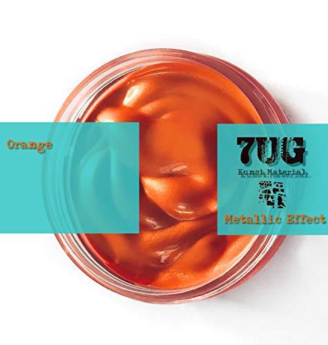 7UG Metallic Effect - Brillante Paste in ORANGE für Mixed Media und Pouring Techniken