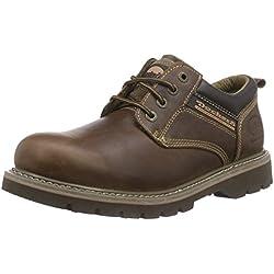 Dockers 23DA005 - Zapatos de cordones de cuero para hombre, color marrón (desert 460), talla 42