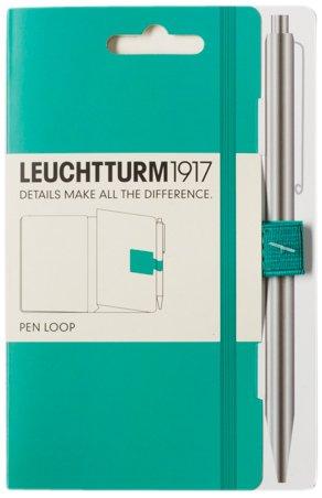Leuchtturm1917 345161 Stiftschlaufe (15 mm elastische Schlaufe, selbstklebend, 40 x 40 mm) smaragd