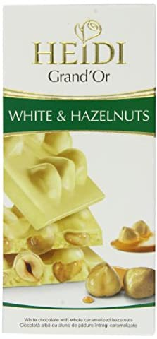 Heidi Chocolate Grand'or White and Hazelnuts 100 g (Pack of