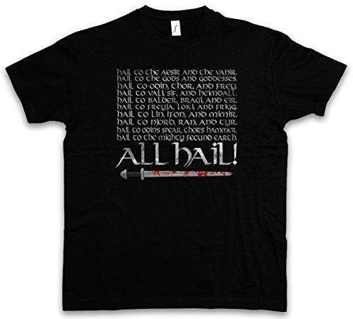 ALL HAIL T-SHIRT - Odin Odhin Walhalla Walhall norvegese Valhalla Valhall Thor Loki Ragnarök Aesir Vanir Jotunheim Vikings Viking Ragnar Taglie S - 5XL