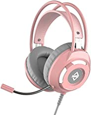 Headset,Phomnd AX120 USB Wired Headset 3.5mm Stereo Gaming Headset Noise Cancelling Headphone with Mic 50mm Dr
