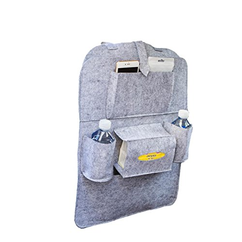 Coolster Auto Auto Sitz Rücken Aufbewahrungsbeutel Multi-Pocket Organizer Halter Aufhänger Taschen (hellgrau)