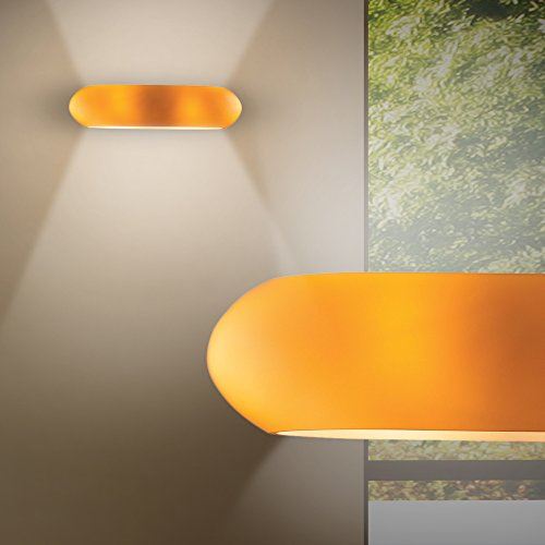 Mundgeblasenes Glas Wandlampen (MIA Light Moderne Wandleuchte Up & Down aus Glas mundgeblasen in amber)