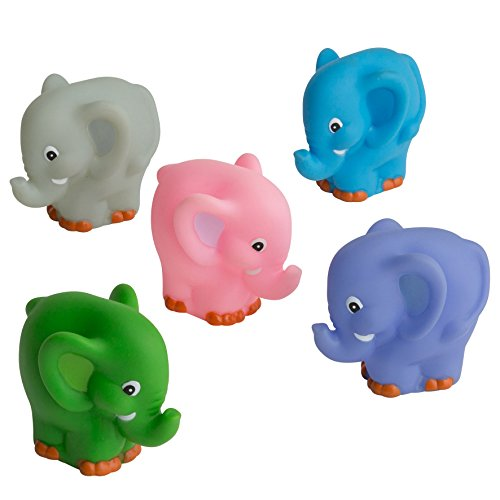 rätt Start elefantes–Juguetes para el baño (5unidades, texto en inglés)