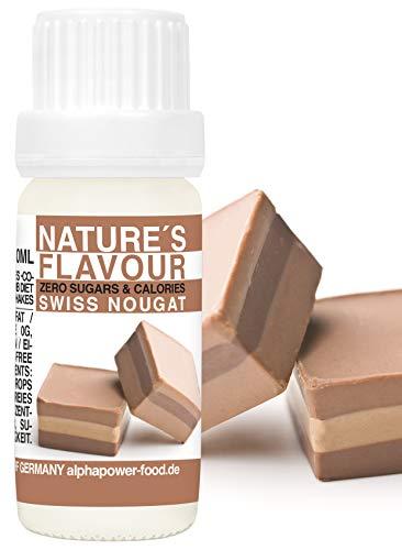 Flavour Drops Schweizer Nougat Flavdrops I Natürliches Flave Aroma I Geschmacks Tropfen I Backaroma & Lebensmittelaroma, Zuckerfrei flüssiger Süßstoff, liquid Konzentrat