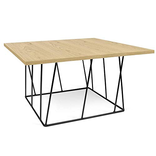 TemaHome Table Basse carrée Helix 75 chêne Structure laquée Noire
