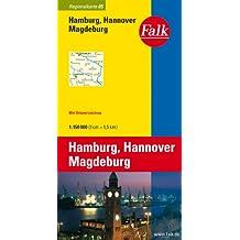 Falk Regionalkarte Hamburg - Hannover - Magdeburg 1:150 000