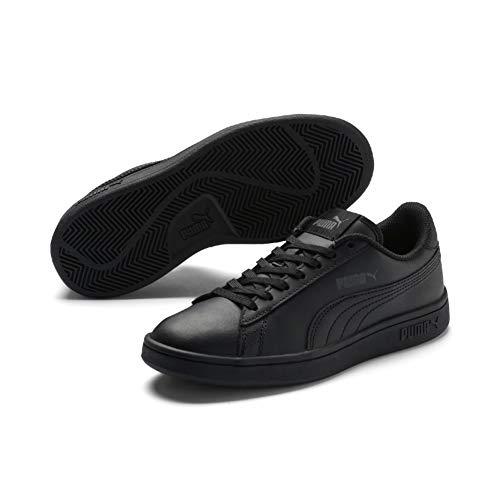Puma Unisex-Kinder Smash V2 L Jr Sneaker, Schwarz (Puma Black-Puma Black), 37 EU