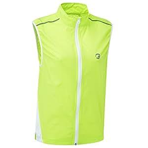 Tenn-Outdoors Men's Windproof Cycling Vest, Mens, Jaune/noir - Gelb - Hi-Viz Gelb