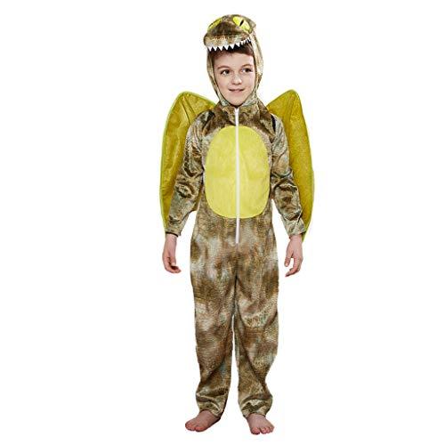 EraSpooky Unisex Tier Dinosaurier Kostüm Einteiler Ausgefallene Faschingskostüme Halloween Party Karneval Fastnacht Tierkostüm
