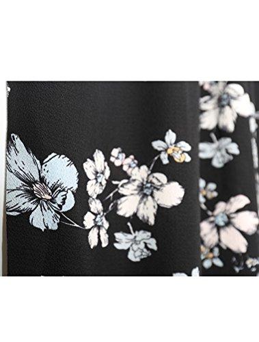 MatchLife Damen Sommer Haremshose Blumenmuster Lange Hose Style5-Floral