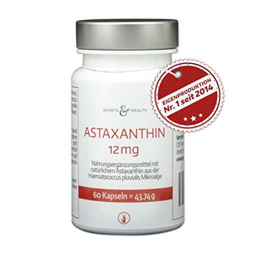 Astaxanthin 12 mg Kapseln Hochdosiert - 4 Monatsvorrat - 60 Gel Caps