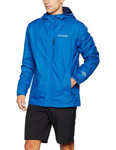 Columbia Pouring Adventure–Chaqueta de lluvia hombre, Hombre, color azul marino y azul, tamaño XXL