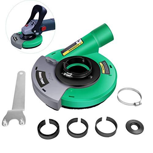 Universal Absaughaube für Winkelschleifer 115/125mm, mit Bürstenkranz, Kann verwendet werden mit Diamantschleifbecher 115/125mm