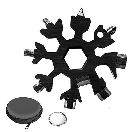 18-In-1 Multi-Tool Snowflake Multi Attrezzo Multi Attrezzo In Acciaio Portatile Per Viaggi In Campeggio Strumento Chiave Inglese (nero)