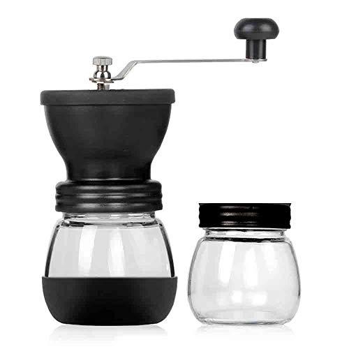 QMOS Glashandkaffeemühle, manuelle Kaffeemaschine, Kaffeemühle, Haushaltsmühle