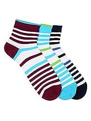 Calzini Mens Ankle Cotton Pack of 3 Pair Socks