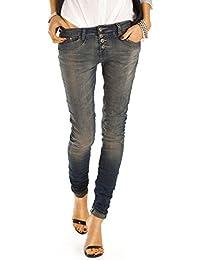 Bestyledberlin Damen Jeans, Boyfriend Jeans, Slim Fit Hosen, Stretch Jeanshosen j41f