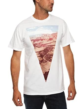 Bring Me The Horizon Men's Canyon Short Sleeve T-Shirt, White, Small