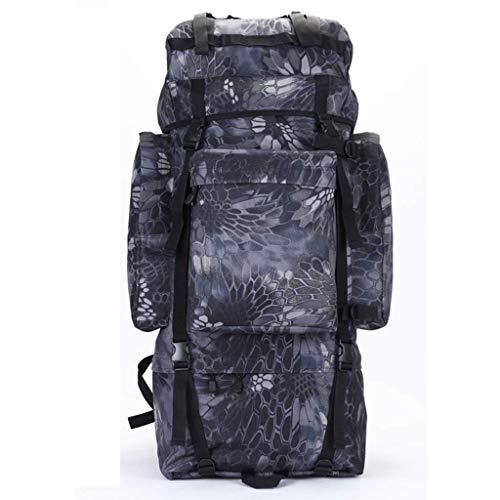 CHBA Coco Inner Frame Outdoor-Wanderrucksack, wasserdichter, sanddichter Berg- oder Dschungel-Abenteuer-Reiserucksack, alle Arten von Tarnung (Farbe: schwarzer Python, Größe: 100 l) -