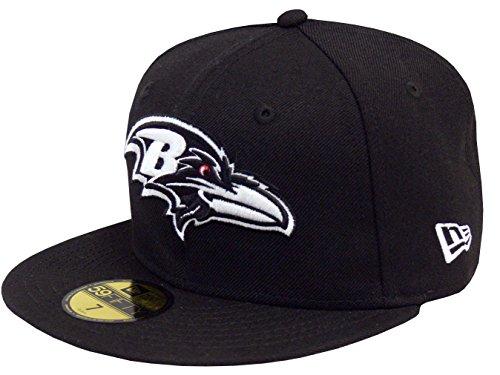 New Era Baseball Cap 59FIFTY Baltimore Ravens Black White Gr. 7 1/4 - Era Ravens Cap New