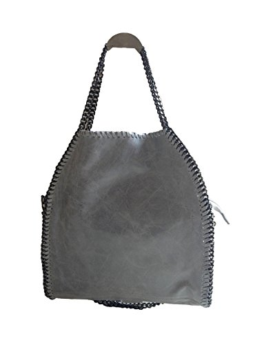 Fashion & You Luxury Italy Borsa A Mano In Pelle Tracolla Buccaneer Borsa Shopper Catena Catena Grigio Nero Fango Blu H.grau