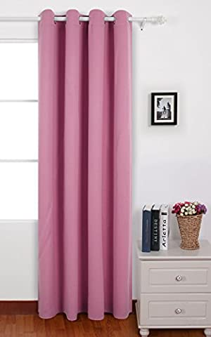 Deconovo Eyelet Curtain Ready Made Room Darkening Solid Thermal Ring