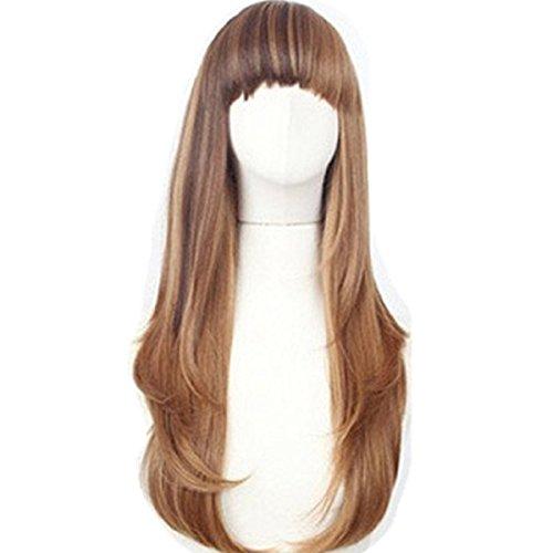 Dayiss®Perruque femme brun Longue cheveux Frisé / Wavy pleine perruque / Perruques Cosplay / Soirée / Costume
