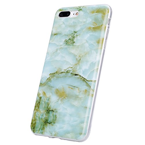 JAWSEU Coque Etui pour iPhone 7 Plus,iPhone 7 Plus Coque en Silicone Transparent,iPhone 7 Plus Souple Coque Ultra Slim Clair Etui Housse,iPhone 7 Plus TPU Gel Protective Cover,Ultra Mince Flexible Sof Vert#