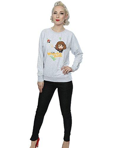 Harry Potter Femme Hermione Granger Wingardium Leviosa Junior Sweat-Shirt Heather Gris