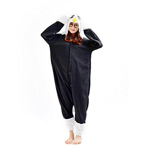 DarkCom Tier-Kostüm für Erwachsene Unisex-Modell Einteiler Jumpsuit ideal Pyjama oder Cosplay-Verkleidung Adler