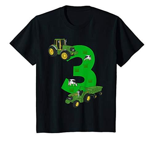 Kinder Geburtstagsshirt 3 Jahre Traktor Trecker 3. Geburtstag (Bauer Kleinkind Outfit)